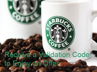 Receive A Validation Code Through Starbucks Customer Survey To Enjoy An Offer