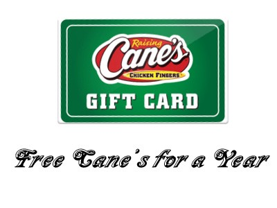 Win Free Cane's for a Year in Raising Cane's Guest Satisfaction Survey Sweepstakes