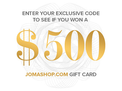www.jomashop.com/win.html Win Up To $500 In Jomashop.com Gift Card From Jomashop Sweepstakes