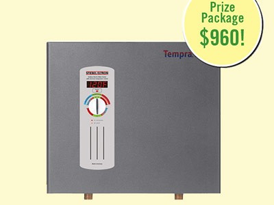 www.motherearthnews.com/water-heater.aspx - Win A Stieble Eltron Tempra Tankless Electronic Water Heater Via Mother Earth News Tankless Water Heater Giveaway Sweepstakes