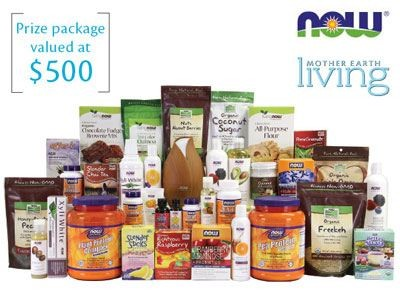 Obtain ARV$500 Wellness Prize Pack From Mother Earth Living NOW Foods Giveaway