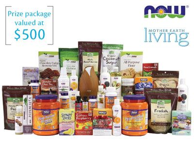 www.motherearthliving.com Obtain ARV$500 Wellness Prize Pack From Mother Earth Living NOW Foods Giveaway