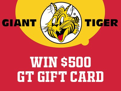 www.gianttiger.com/survey Win A $500 Gift Card Each Month From Giant Tiger Customer Experience Survey Contest