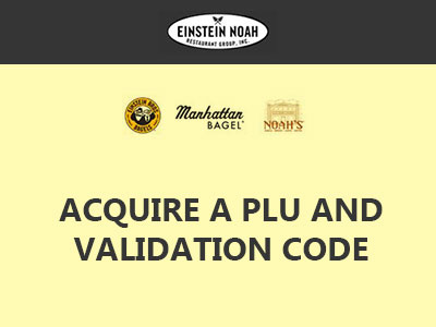 www.bageltalk.com Acquire A PLU And Validation Code Through BagelTalk Guest Experience Survey