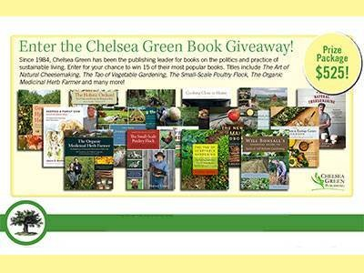 Win Popular Books From Mother Earth News Chelsea Green Book Giveaway