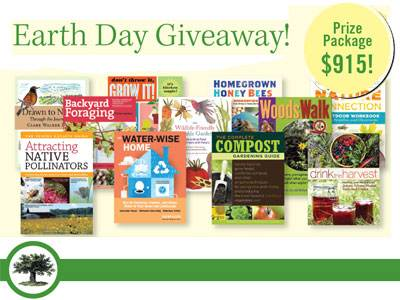 www.motherearthnews.com/earth-day-2015.aspx Win Books Worth $915 From Mother Earth News And Storey Publishing Earth Day Giveaway