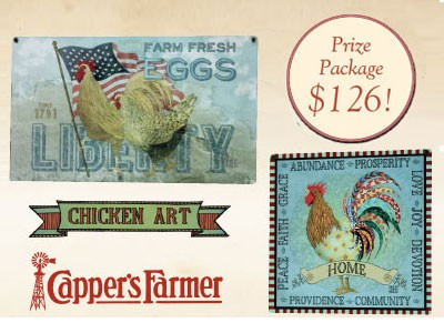 Win Capper's Farmer Chicken Art Painted By Sarah Hudock Giveaway