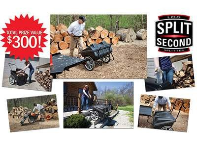 www.grit.com/log-cart - Enjoy A Free Split Second Log Cart Worth $300 At GRIT Split Second Log Cart Giveaway Sweepstakes