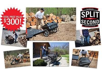 www.grit.com/log-cart - Enjoy A Free Split Second Log Cart Worth $300 At GRIT Split Second Log Cart Giveaway Sweepstakes