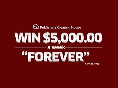 "pch.com/sweepstakes - Enter PCH Giveaway To Win $5,000 A-Week-""Forever"" Prize"