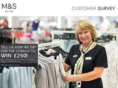 www.yourmandsviews.com - Enter For Your Chance To Win £250 From M & S Retail Customer Satisfaction Survey Prize Draw