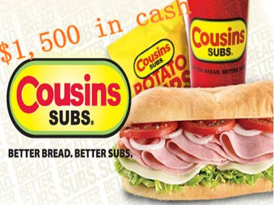 www.ratecousinssubs.com - Win Empathica Cash Prizes Through Cousins Subs Customer Experience Survey Sweepstakes