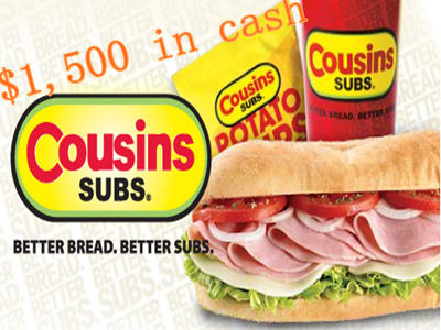 www.ratecousinssubs.com Win Empathica Cash Prizes Through Cousins Subs Customer Experience Survey Sweepstakes