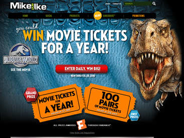 www.justborn.com/mike-and-ike/win-movie-tickets-sweepstakes - Win Movie Tickets For A Year Via Just Born's Mike And Ike Win Movies For A Year Sweepstakes