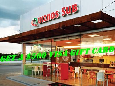 www.quiznosfeedback.com - Win A $500 VISA Gift Card Via Quiznos Customer Satisfaction Survey Sweepstakes