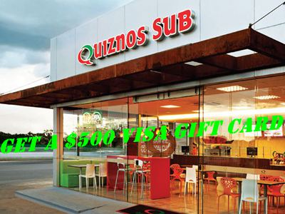 www.quiznosfeedback.com $500 VISA Gift Card Quiznos Customer Satisfaction Survey