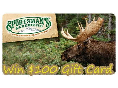 www.sportsmanswarehouse.com/opinion - Win 1 Of 5 $100 Gift Cards Through Sportsman's Warehouse Customer Opinion Survey Sweepstakes