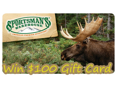 www.sportsmanswarehouse.com/opinion Win 1 Of 5 $100 Gift Cards Through Sportsman's Warehouse Customer Opinion Survey Sweepstakes