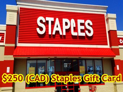 www.survey4bdd.ca Win A $250 Staples Gift Card Or Merchandise Credit Via The Staples Customer Satisfaction Survey Sweepstakes