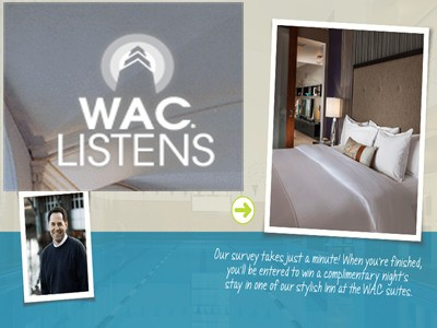 survey.waclistens.com - Enter WAC Listens Survey Sweepstakes To Win A complimentary Night's Stay In One Of The Stylish Inn At The WAC Suites