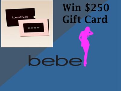 www.bebe.com/feedback - Win One $250 Bebe Gift Card Through Bebe Stores Customer Feedback Survey Sweepstakes