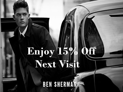www.bensherman.com/feedback - Get 15% Discount Code Off Your Next Order Through Ben Sherman Customer Satisfaction Survey