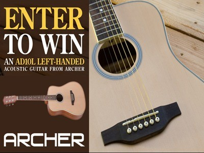 www.interstatemusic.com/clubsweepstakes - Win An AD10L Left-Handed Guitar From Archer Via Cascio Interstate Music Contest