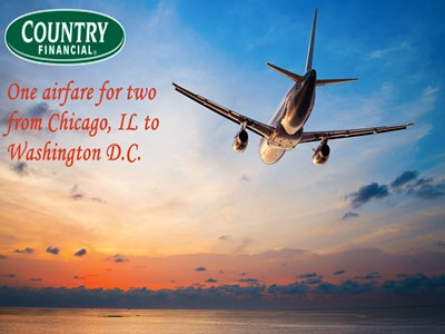 www.countryfinancial.com/win - Enter Chicago Fire VIP Experience Giveaway Sweepstakes To Win One Airfare For Two From Chicago To Washington D.C. And Other Prizes