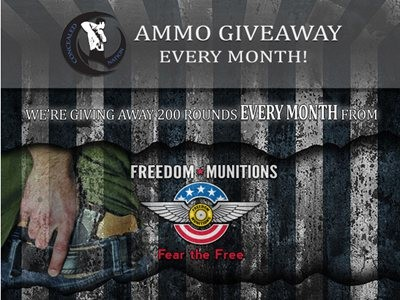 www.concealednation.org/ammo-giveaway - Win 200 Rounds Of Ammo Via Concealed Nation and Freedom Munitions Ammo Giveaway Contest