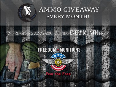 www.concealednation.org/ammo-giveaway Win 200 Rounds Of Ammo Via Concealed Nation and Freedom Munitions Ammo Giveaway Contest