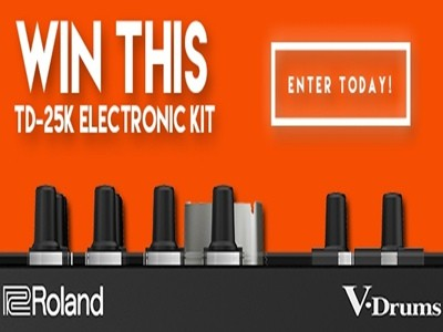 www.drummagazine.com/giveaways - Enter DRUM Magazine The Roland TD-25K V-Drums Giveaway Sweepstakes To Win A Roland TD-25K V-Drums Kit Worth $2,499