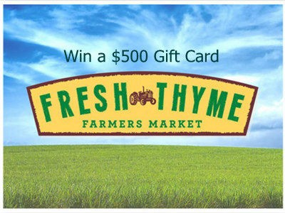 www.freshthyme.com/survey - Win A $500 Fresh Thyme Farmers Market Gift Card Through Fresh Thyme Farmers Market Customer Survey Sweepstakes