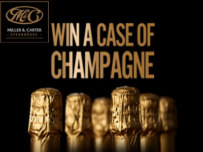 www.wewantyourviews.com Win One Case Of Louis Dornier Champagne From Miller & Carter Customer Satisfaction Survey Contest