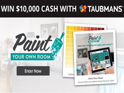 www.tenplay.com.au/win - Enter Network Ten Play & Win Taubmans Competition To Win $10,000 Cash With Taubmans