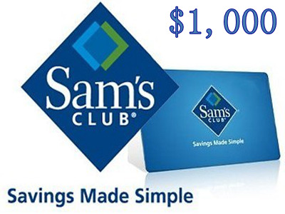 www.entry.survey.samsclub.com Enter Sam's Club Sweepstakes To Win One Of Five	 Sam's Club $1,000 Gift Cards