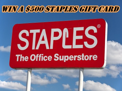 www.staplescares.com Win A $500 Staples Gift Card Via Staples Retail Customer Satisfaction Survey Sweepstakes