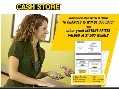 www.cashstore-survey.com - Win Empathica Cash Via The Cash Store Customer Experience Survey Sweepstakes