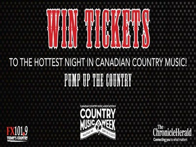 www.thechronicleherald.ca/contests - Enter The Chronicle Herald Contest To Win Tickets To The Hottest Night In Canadian Country Music