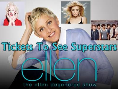 www.ellentv.com/giveaways - Win A Pair Of Tickets To See Madonna, One Direction, Kelly Clarkson And More Superstars On Tour Via The Ellen DeGeneres Show Giveaways Sweepstakes