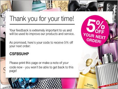 www.thefragranceshop.co.uk/feedback - Enjoy A Voucher For 5% Off Next Purchase From The Fragrance Shop Customer Service Survey
