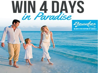 www.beaches.com/sweepstakes - Win A 4-Day Luxury Vacation To A Sandals Or Beaches Resorts Via Beaches Caribbean Family Resorts Vacation Giveaway Sweepstakes