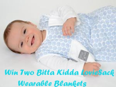 www.workingmother.com/giveaways - Enter Working Mother Bitta Kidda LovieSack Giveaway Sweepstakes To Win Two Bitta Kidda LovieSack Wearable Blankets