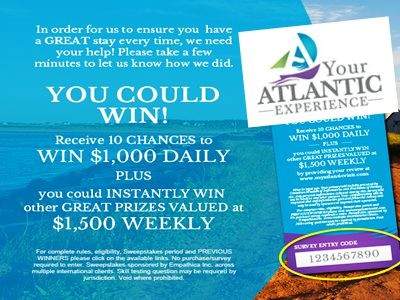 www.visiteatlanticvisit.com - Win Empatica Cash Prize Through Your Atlantic Experience Online Survey Sweepstakes