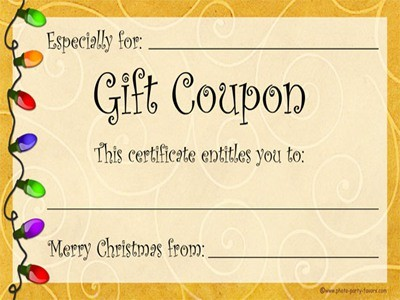 Gift Coupon & Gift Coupon Template