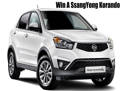 www.caravanclub.co.uk/winacar Enter The Caravan Club SsangYong Car Giveaway Prize Draw To Win One Brand New SsangYong Korando