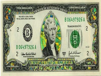 1 Thomas Jefferson Accented $2