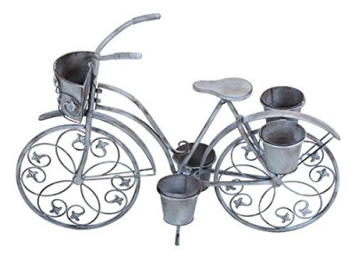 Deco 79 68767 Metal Bicycle Planter Stand, 36 By 26-inch