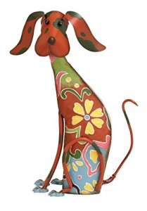 Deco 79 55138 Metal Decorative Dog Statue, 12 By 17-Inch
