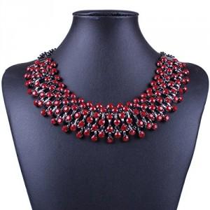 Colorful Wide Resin New Fashion Style Women Bib Choker Statement Collar Necklace
