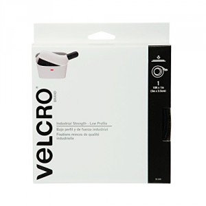 "Velcro Industrial Strength Low Profile 10' X 1"" Tape Black"